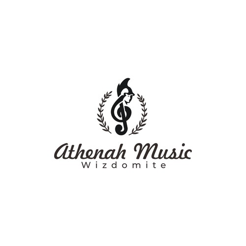 logo concept for athenah music