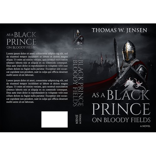 "Book Cover for ""As a Black Prince on Bloody Fields"""
