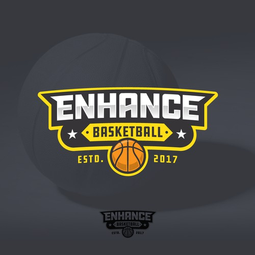 Bold logo for Enhance Basketball