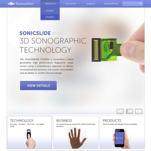 Help Sonavation with a new website design