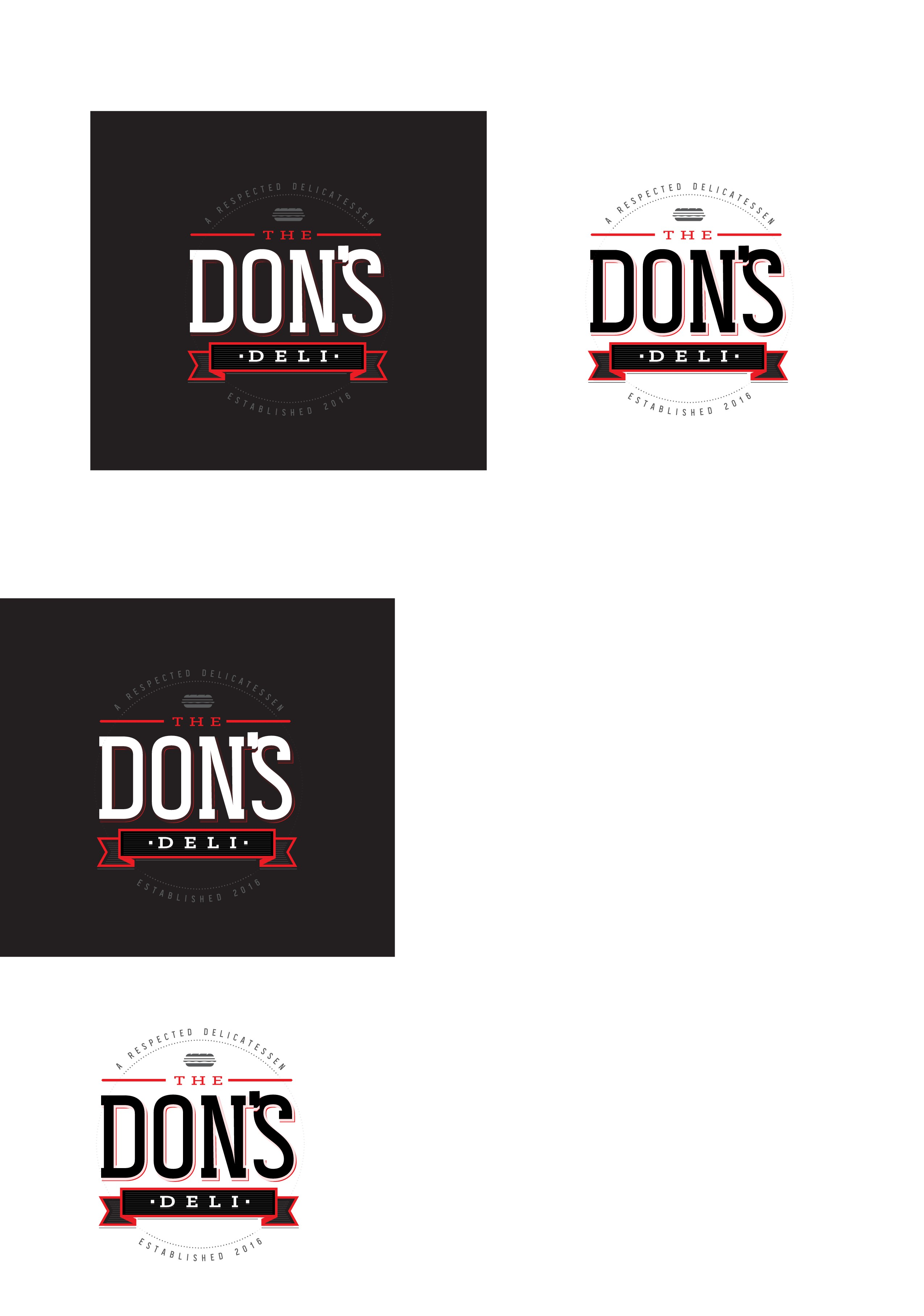 Brand 'The Don' Help Create logo for The Don's Deli, a respected deli with sides and fries.