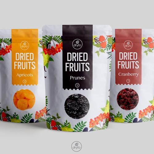 Dried fruits packaging (Quad pack)