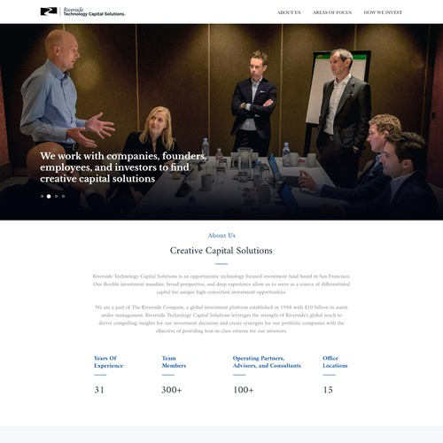 Global investment firm seeking website redesign and ongoing PowerPoint design work