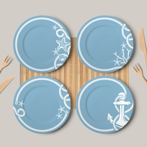 Pattern for Outdoor Melamine Set Plates