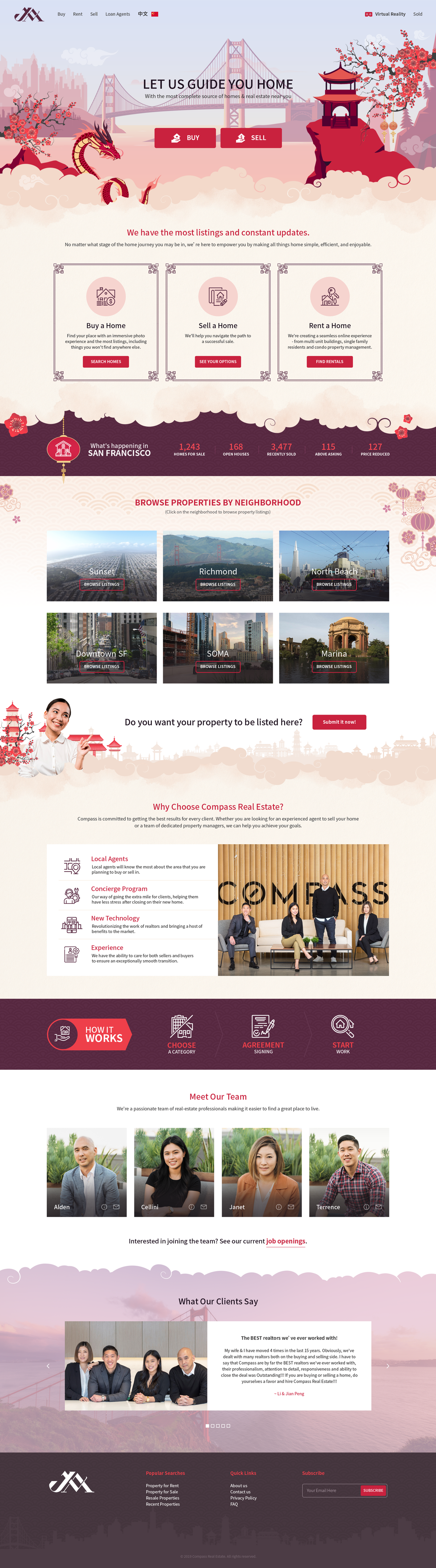 Design a cute & sophisticated Chinese Real Estate webpage