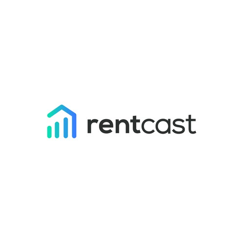 Modern logo design for real estate software start-up