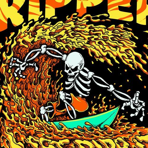 "SURF RIPPER (R) - MALE - ""SUPER HOT"" - T-SHIRT DESIGN"