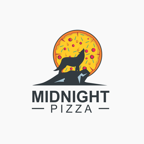 Logo for midnight Pizza