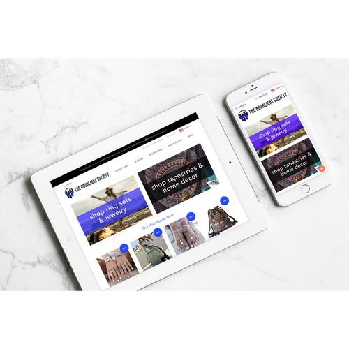 Branding & Online Shop Creation for Bohemian Jewelry Brand