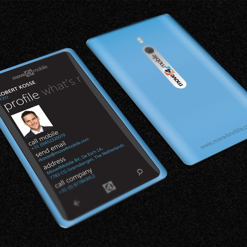 Inspire us by creating the best mobile business card your can imagine!