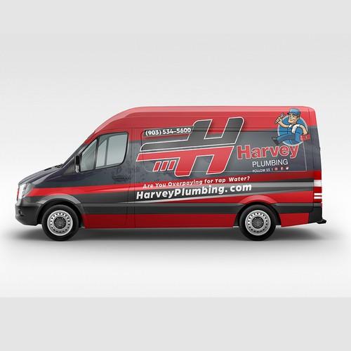 Van Wrap for Harvey Plumbing