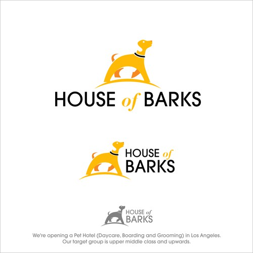 House of Barks logo for a Pet Hotel.