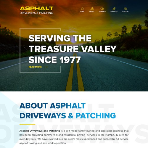 Website for Asphalt Driveway Sand Patching