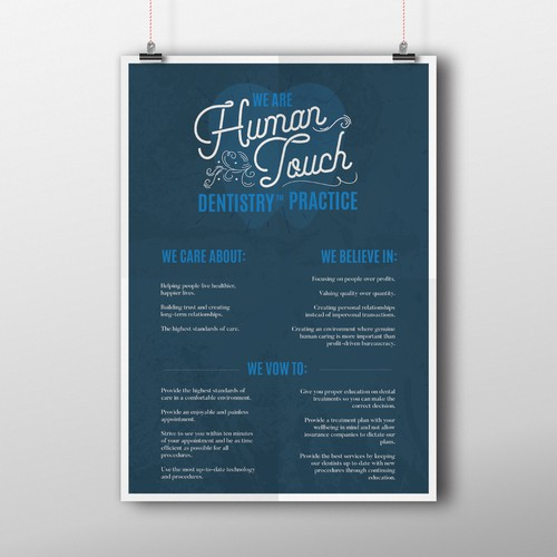 Poster for Human Touch Dentistry