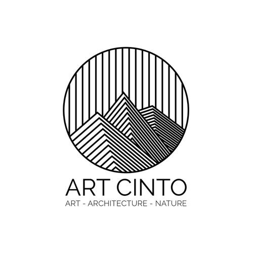 Logo pour un parcours d'art contemporain à ciel ouvert au coeur de la Corse de l'intérieur.