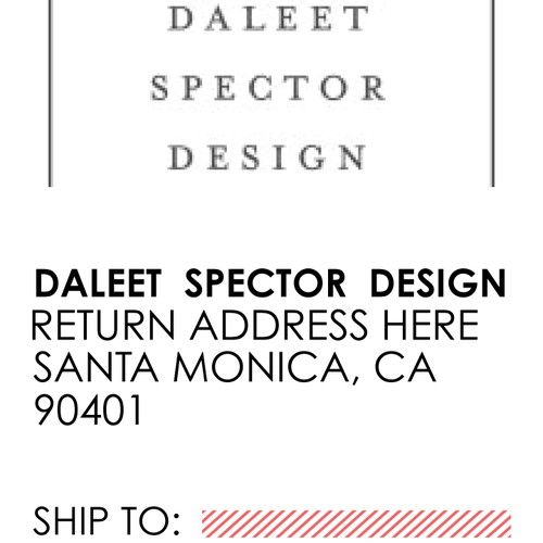 Shipping Labels for an Interior Design Firm