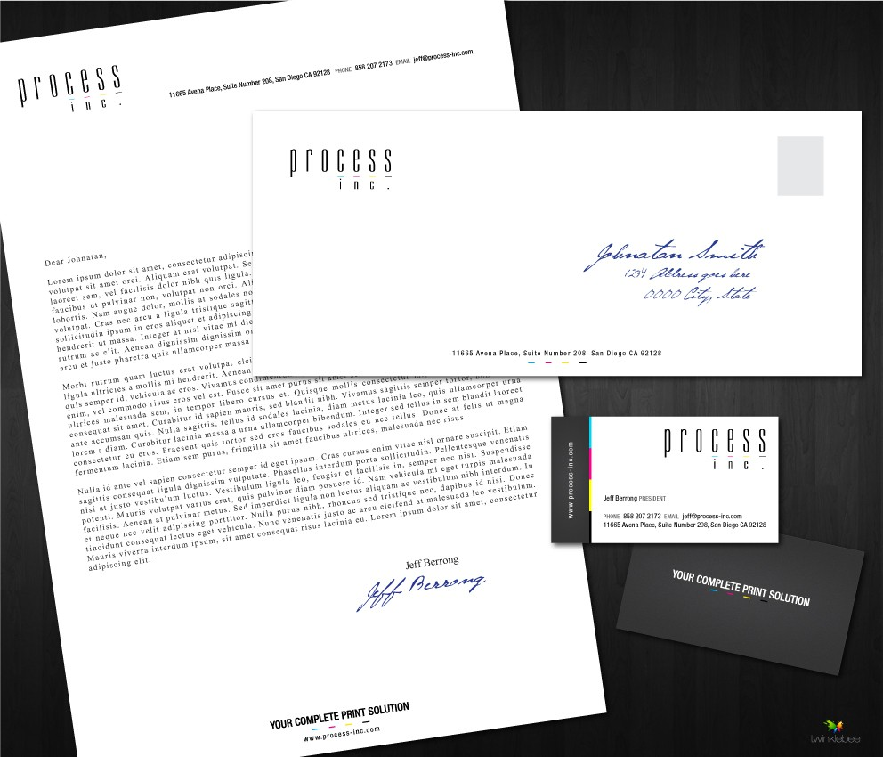 stationery for Process, Inc.