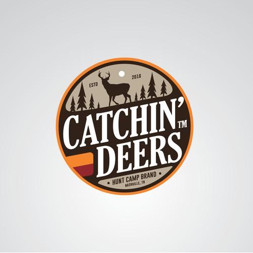 Catchin' Deers logo design concept