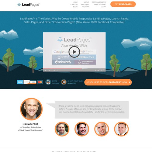 Web design of Lead Pages