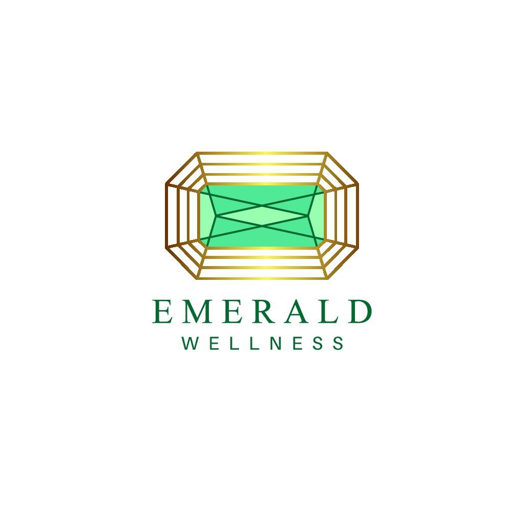 Emerald Wellness (EW) Logo Design
