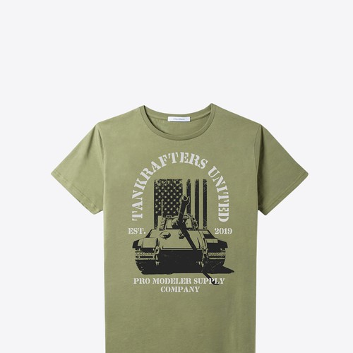 Vintage Look Tiger Tank T-Shirt Illustration