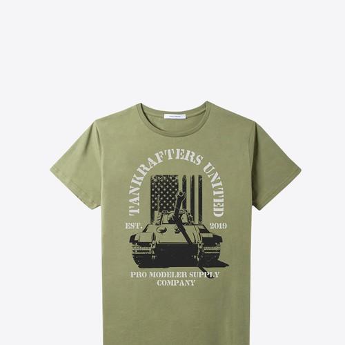 Vintage Look Tiger Tank T-Shirt Illustration