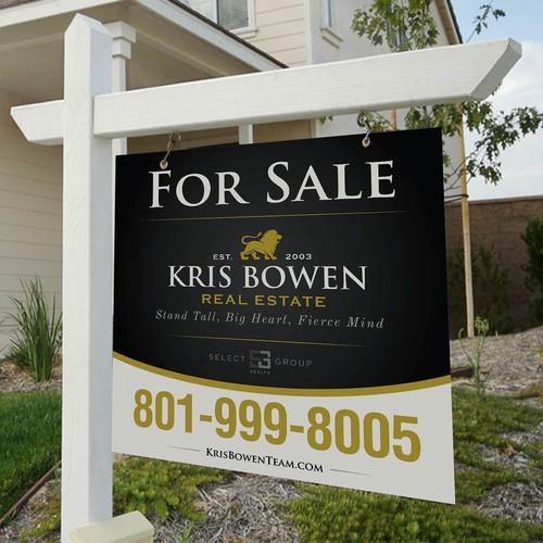 Kris Bowen Real Estate Signage