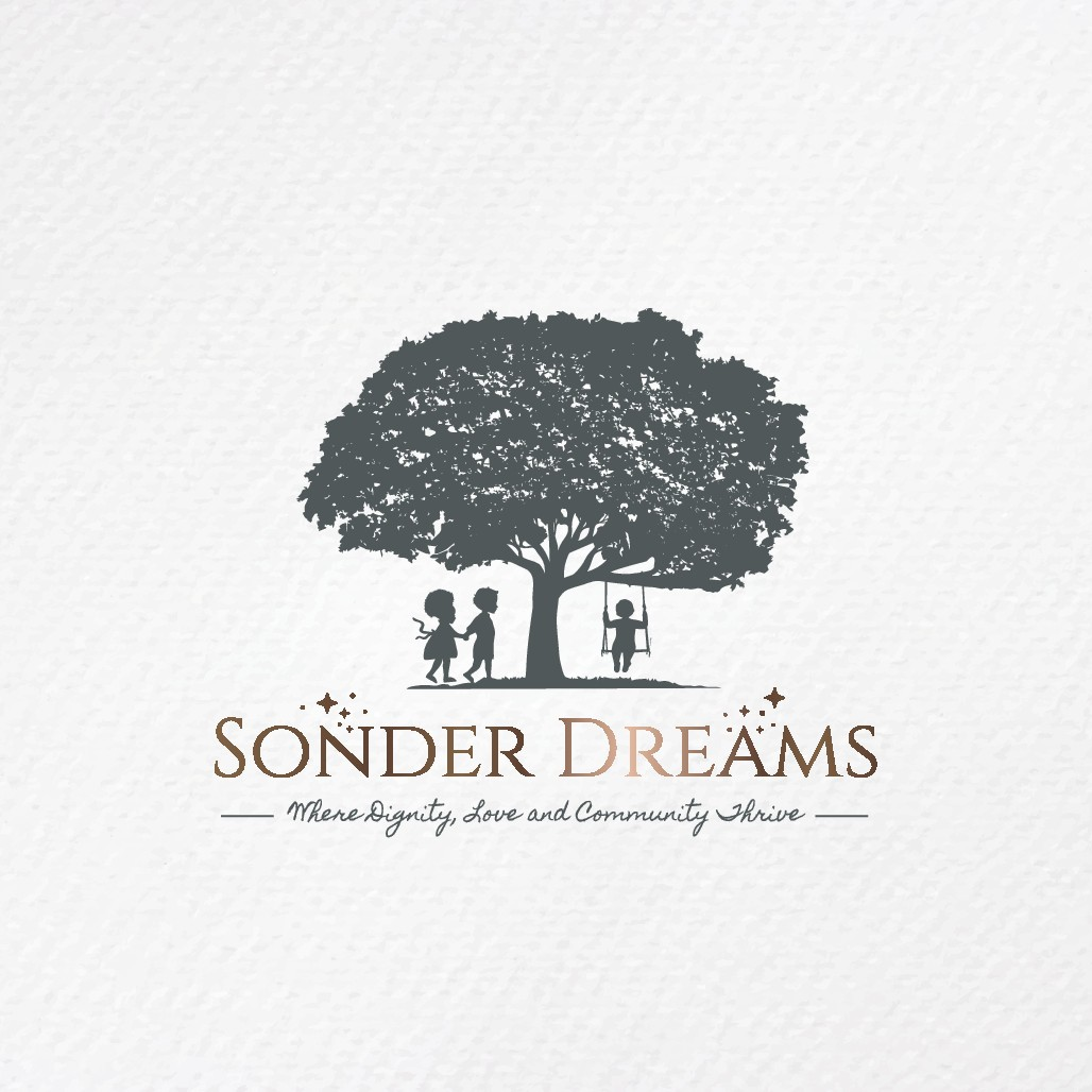 A logo embodying community and togetherness for Sonder Dreams!