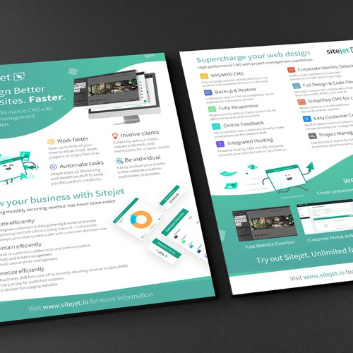 Sitejet CMS - Flyer Design
