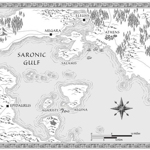 Map for historical fantasy novel