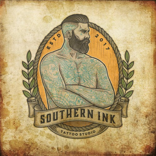 Old School Style logo for Southern Ink Tattoo