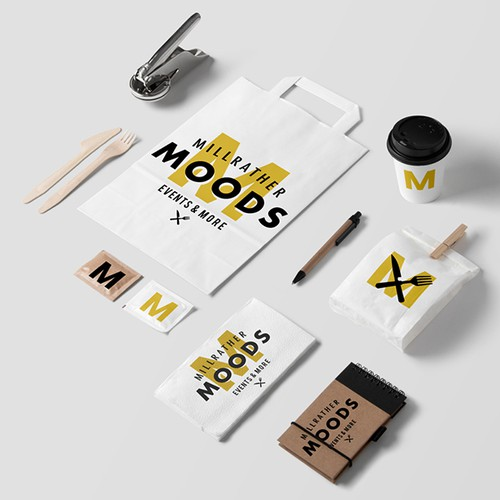 Millrather Moods - Restaurant Logo Design
