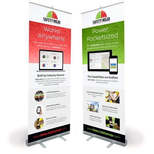 Vertical Banners for Exposition Booth