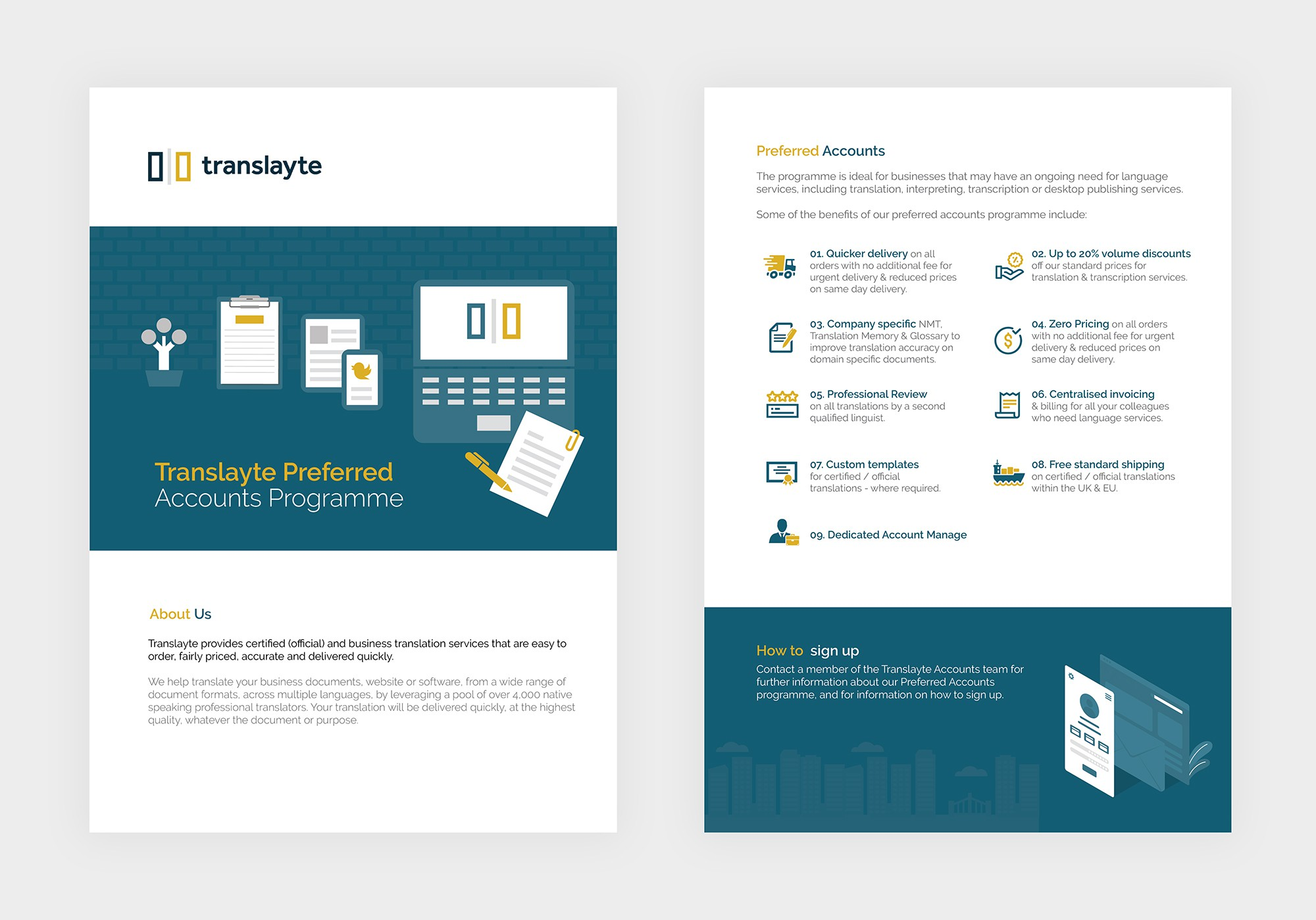 Translayte Preferred Account brochure
