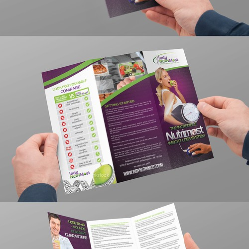 Create dynamic info/sales brochure for high tech weight loss program.
