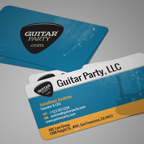 Help Guitarparty.com with a new stationery
