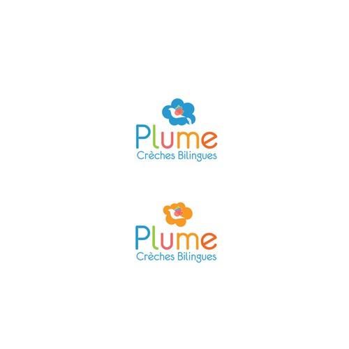 Logo pour un réseau de crèches bilingues