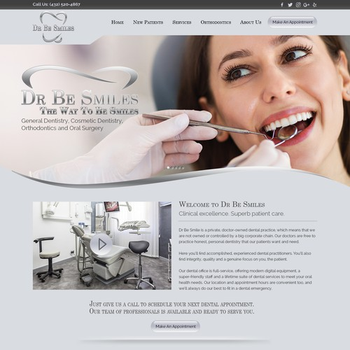 Dentist seeking top designers for a signature interactive website