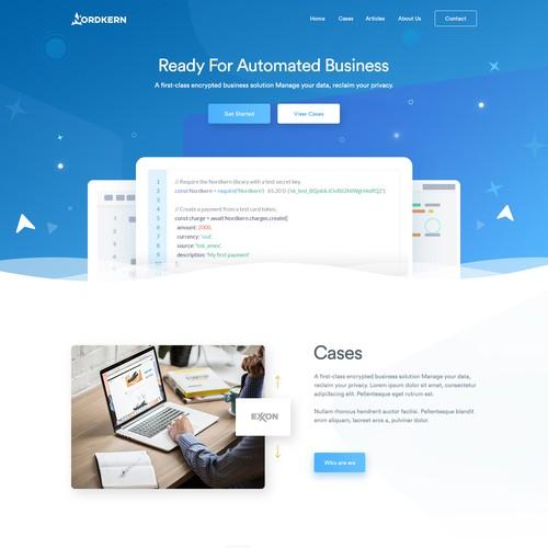 Web design for IT development company