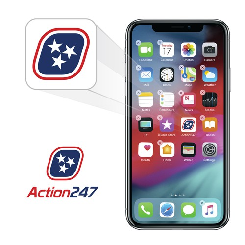 action247 logo and icon design