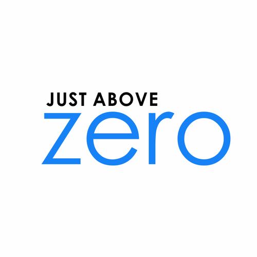 just above zero