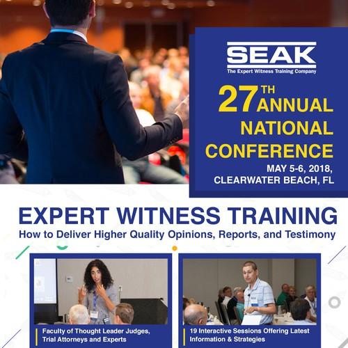 Front cover design for seminar brochure