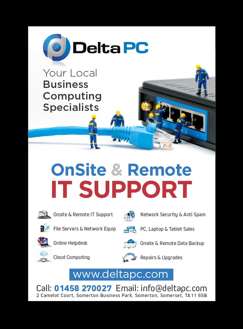 A5 Advert To Promote local IT Network Support Co.