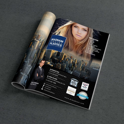 Luxurious Magazine ad for New York Plastic Surgeon