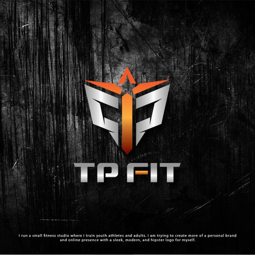 Bold and strong logo for fitness