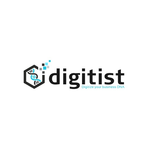 "Create a modern digital logo for a software/technology company ""Digitist"""