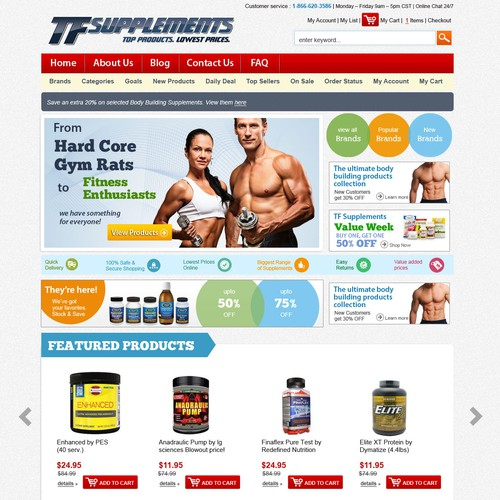Web Design for Health Supplements