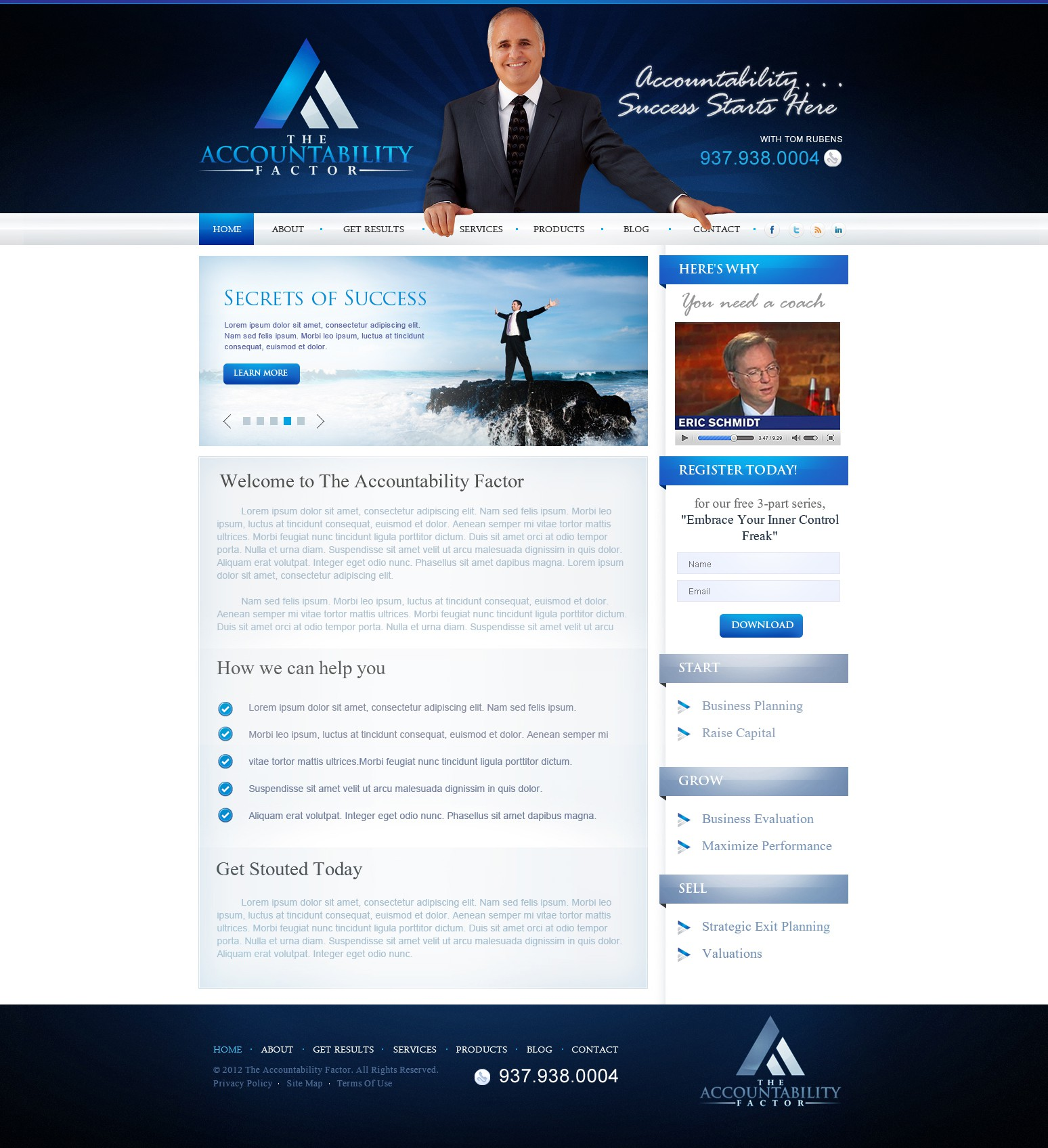 Help The Accountability Factor with a new website design