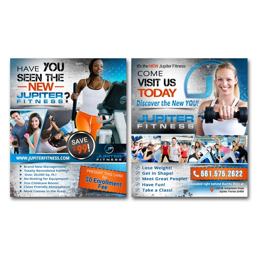 flyer concept for fitness