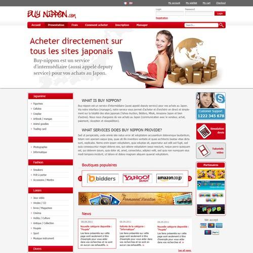 Webdesign for Buy Nippon